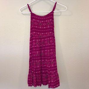Justice Pink Pattern Girls Dress